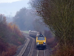 Bam a Lam (Jim the Joker) Tags: train railway coal freight stokesay flhh 70010 freightlinerheavyhaul class70 6z61