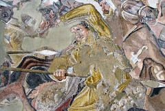 Alexander Mosaic, detail with wounded rider