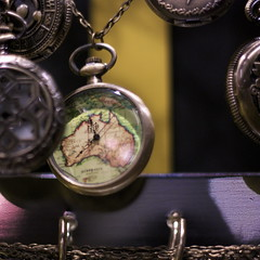 time map (peculiarnothings) Tags: necklace watch australia pocket hang
