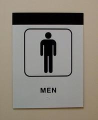 Exterior ADA Compliant Restroom Sign