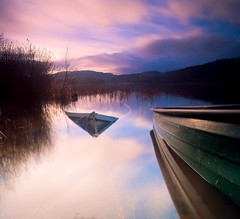 Disappearing under the water (version 1) (PeterYoung1.) Tags: longexposure beautiful clouds landscape boats scotland scenic ard lochard kinlochard 5d2 canon5d2