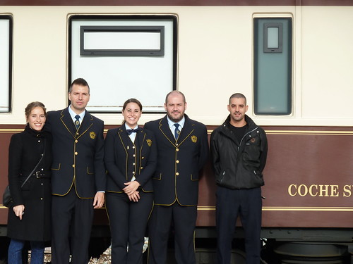 AL Andalus - luxury train in Spain, some crew