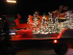 Right down Santa Claus Lane (WanderWorks) Tags: santa christmas trees winter night reindeer lights parade claus float sleigh 2012 img5355g