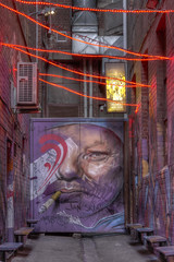 Croft Alley with night lights 2012-11-23 (_MG_7256_7_8) (ajhaysom) Tags: