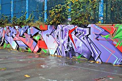 Abbey Road (8333696) Tags: road street blue urban streetart london art abbey wall tin graffiti mural paint purple pastel can spray spraypaint graff aerosol ldn