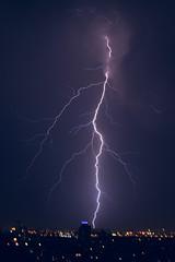 Thunderstorm 5 (Gaby.Bernstein) Tags: sky rain skyline night clouds buildings gaby thunderstorm lightning bernstein thunderbolt thunderbolts lightnings bernsteingaby gabybernstein