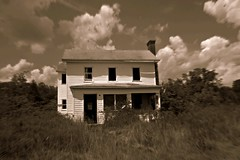 (Blurry Pixels) Tags: summer house abandoned sepia summer2012