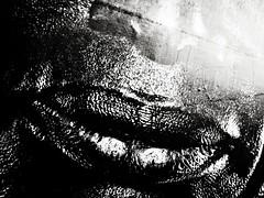Deep Black Smile (Yves Roy) Tags: street city shadow urban blackandwhite bw black contrast dark austria blackwhite raw moody darkness noiretblanc 28mm snap gloom yr enigmatic ricohgrd blackwhitephotos grdiii bureboke yvesroy yrphotography billboardgrdiiiat