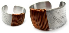 Angeles Flor mondrian ring in copper (Ans Designs) Tags: textilejewellery angelesflor aluminiumjewellery ansdesigns