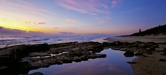 The Crossroads (southern_skies2) Tags: reflection dawn coast sand rocks australia queensland sunshinecoast oceansky elizabethbarnes pointarkwright southskyphotography