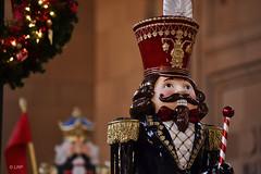 Nutcracker (Lisa Plymell) Tags: christmas portrait abstract blur color face lights nikon dof bright bokeh kansascity missouri newbie nikkor amature 55300 d3100 nikond3100