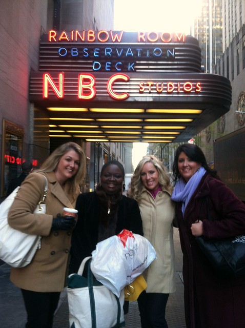 WilmU staff outside the Dr. Oz show.