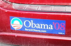 Bumper Sticker, Election 2008, Obama (photolibrarian) Tags: bumpersticker obama election2008