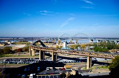 Day 6 (Memphis, TN): View from the hotel (UAJamie1) Tags: tn memphis mississippiriver tennesee