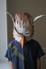 Gryphon mask, painted (wrnking) Tags: mask cardboard gryphon