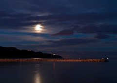 e poi comparve il baganello mannaro (Andrea_Federici) Tags: sea sky moon reflection night clouds nuvole mare luna cielo riflessi notte scogli riflesso andreafederici