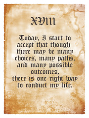 18 - Today, I start to accept that though  there may be many choices, many paths, and many possible outcomes, there is one right way to conduct my life (naturalmindproject) Tags: life start way one december day 21 many right paths possible choices 18 accept manifesto conduct outcomes 12122012
