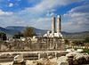 The columns look like factory chinmeys (VillaRhapsody) Tags: city two ancient antique columns fethiye lycian preroman challengeyouwinner letoon