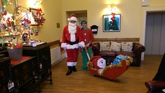 Santa Clause and his Elf