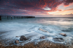 Sunset over the Solent (MatthewColman) Tags: uk sunset sea england beach clouds landscape bay coast pier nikon rocks tokina isleofwight totland d7100 1116mm