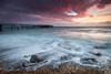 Sunset over the Solent (MatthewColman) Tags: uk sunset sea england beach clouds landscape bay coast pier nikon rocks tokina isleofwight totland d7100 1116mm