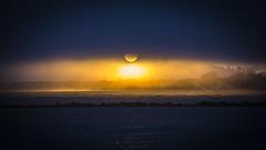 Sunset and Fog (Ellen Soohoo) Tags: sunset fog point ebrpd ebparksok east bay regional park district isabel ptisabel ptisabelregionalshoreline richmond canon70200f4l 70200f4l sfbay sanfranciscobay sanfrancisco eastbayregionalparksdistrict
