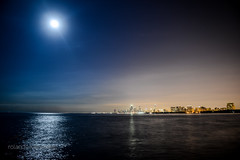 Full Moon over Chicago (rolandin) Tags: top20flickrskylines