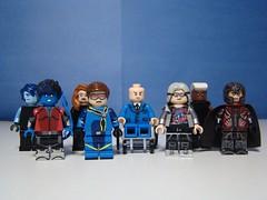 Mutants. (166 Customs) Tags: xmen legoxmen legomarvel xmenapocalypse professorx magneto quicksilver cyclops