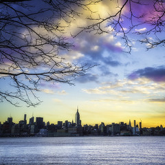 Manhattan view from Hoboken (3dRabbit) Tags: hoboken manhattan nyc nj usa ny apple skyscrapper building empire state river hudson morning winter light nature sungjinahn canon wide square outdoor serene sunset sky water dusk plant tree