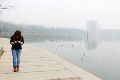 Maddy (Meeg.E) Tags:         china nanjing lake fog smog friend camera photographer