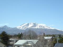 Majestic mountain (seikinsou) Tags: japan spring omiya kanazawa shinkansen jr railway train travel hakutaka windowseat view mountain snow