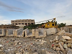 reclamation site (DOLCEVITALUX) Tags: manilabay construction development landfill machines heavyequipments philippines