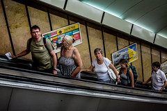 In order 2 (dalibor.papcun) Tags: stphotography streetlife streetbudapest budapest underground metro people order human city pulse life colourstreet nikon35mm escalator smile