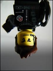 The Spy (LegoKlyph) Tags: lego custom fun spy mission upsidedown minifigure