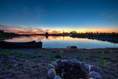 Toronto skyline (Rcrew_Photography) Tags: toronto skyline evening sunset lakeontario fujixt1 fujifilm calm peaceful gorgeous view landscape