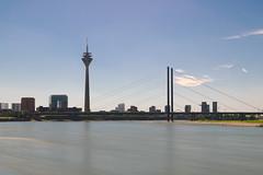 Dsseldorf (portelarenan) Tags: germany deutschland dsseldorf nordrheinwestfalen tower bridge sky renanmirandaportela nikon hdr longexposure langbelichtungzeit