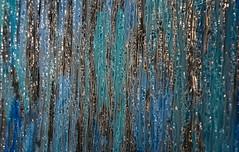 Icy Waterfall (BKHagar *Kim*) Tags: bkhagar glass paint painted art artwork waterfall panel blue