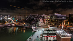 Lefty O'Doul Bridge (DSC05467) (Michael.Lee.Pics.NYC) Tags: sanfrancisco attpark leftodoul liftbridge mccoveycove chinabasin rightfield mlb majorleaguebaseball night construction sony a7rm2 voigtlanderheliar15mmf45