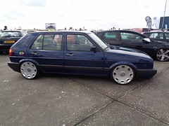 VW Golf 2 (911gt2rs) Tags: treffen meeting show tuning tief low stance rabbit blau blue mk2 youngtimer