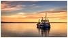 Dredger... (moraypix) Tags: red dredging sunsetdredging burghead burgheadharbour selkie dredger sunset sunsetcolours pastelsunset nikond750 nikon2485lens moraypixphotography jimmacbeath