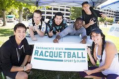 The Sacramento State Racquetball Club shows its excitement for Rush Week! (Sac State) Tags: public affairs california state university sacramento vernone sacstate sacramentostate calif usa us