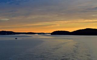 Sunrise in Stockholm archipelago