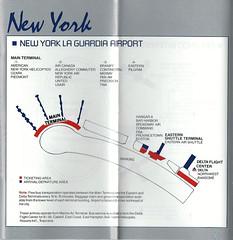 Delta LGA diagram, 1986 (airbus777) Tags: deltaairlines newyorklaguardia lga 1986 airport terminal diagram map