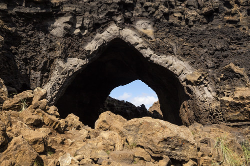 "Kirkjan (""the church""), detail at Dimmuborgir, Iceland"