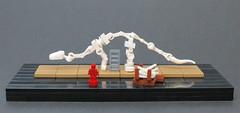 Curator of the Sauropod (Grantmasters) Tags: sauropod dinosaur skeleton micro lego museum belville shoe
