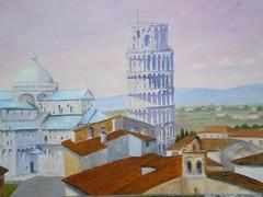 Pisa dipinto a olio (Renoil L.) Tags: torrependente torredipisa duomo tetti panorama