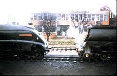 Eastleigh 1966 (unravelled) Tags: 19660324 34038 60024 eastleigh