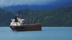 Kai Yang (iecharleton) Tags: kaiyang padang indonessia westsumatra ship containership coastline