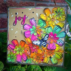 This weeks project for the Stampotique challenge 'put a bug on it' #art #artwork #artist #bloom #color #colour #distressink #flowers #journal #layers #mixedmedia #mixedmediaart #stamps #stampotique (Tr4cy1973) Tags: art artwork artist bloom color colour distressink flowers journal layers mixedmedia mixedmediaart stamps stampotique