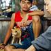 Man with Cat, Pasar Keputran Market, Surabaya